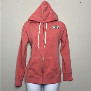 Vans Pink Kangeroo Pouch White Hoodie D2 0325